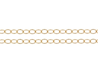 14Kt Gold Filled 2.8x2mm Round wire Cable Chain - 5ft (2830-5)/1