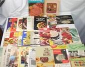 Lot 37 Vintage Recipe Cook Book Booklets Nestle Velveeta Tyson Arm Hammer Eagle