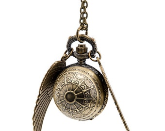 2pcs 26mm  Antiqued Bronze Color   Watch Pendant with Wings