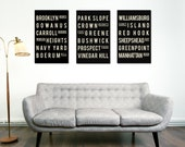 Brooklyn Poster - Brooklyn Decor - Brooklyn Bridge - Travel Poster - Living Room - Wall Art - New Home Housewarming Gift