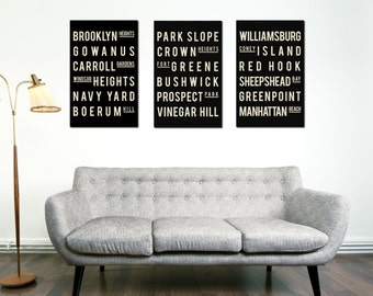 Brooklyn Poster - Brooklyn Decor - Brooklyn Bridge - Travel Poster - Living Room - Wall Art - New Home Housewarming Gift