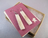 Elk Antler Earrings SHIPS IMMEDIATELY Handmade Western Elk Antler Dangly Earrings