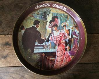 Vintage Coca-Cola tray circa 1960s / English Shop
