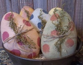 Gathering of Primitive Handmade Painted Easter Eggs - Bowl Fillers/Ornaments