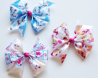 Disney's Frozen Boutique Hairbows Anna, Elsa, & Olaf set of 3