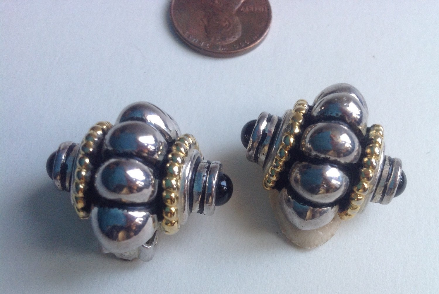 david yurman style cable silver and gold earrings by art4u2buy