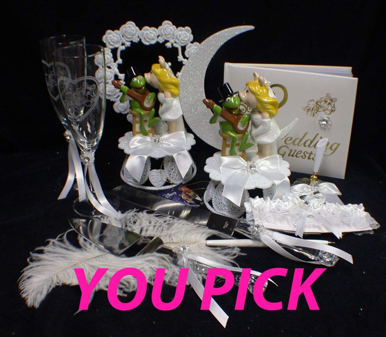 Miss Piggy Kermit The Frog Wedding Theme Wedding Cale Topper