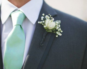 Mint Cotton Tie, Mint Neck Ties, Mint Green Ties, Made in the USA, use code TENOFF5 at checkout for 10% off 5 or more