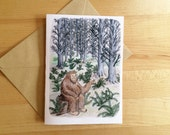 Sasquatch in the Forest- Blank Card, Friendship