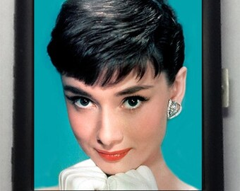 Audrey Hepburn Black Metal Wallet Cigarette Case  No. 257