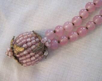 Delicate light pink signed De Mario bracelet