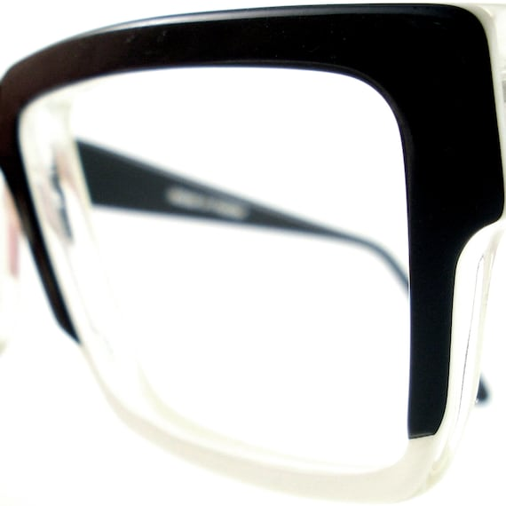 Vintage Black And White Glasses Frame Eyeglasses Sunglasses