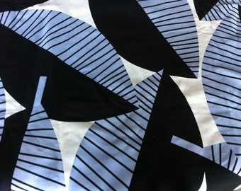 Lovely IKEA Blue Leaf ANNA Salander 2007 Cotton Home Decor Fabric Over 2 Yards 59 inches Wide Blue White Navy Large Leaf Pattern Graphic