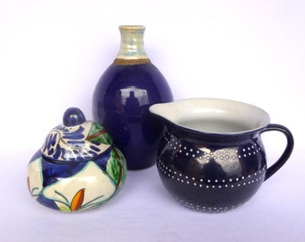 Cobalt Blue INSTANT POTTERY COLLECTION/ BohoNavy Blue Ceramic collection