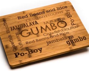 Louisiana Foods Bamboo Cutting Board