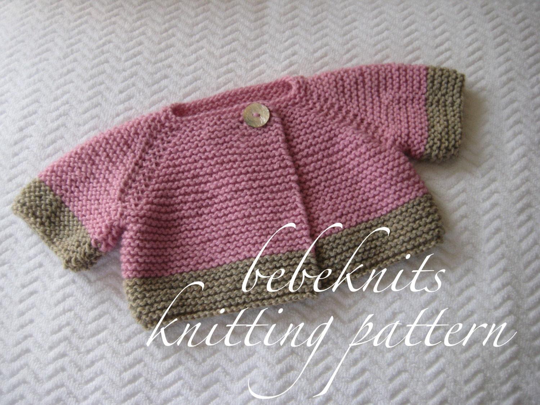 French Baby Knitting Patterns : Bebeknits French Style Brittany Baby Cardigan Knitting Pattern