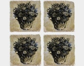 Limited Edition Stardust Collection Coasters - Skull Bouquet Single or Set