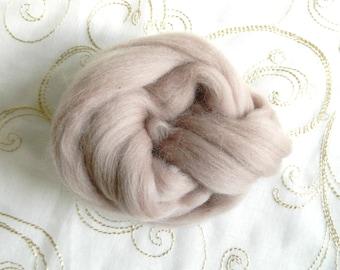 Merino Wool for Wet Felting Needle Felting Spice Shades Orange Biscuit Chocolate Salmon Mustard 25g