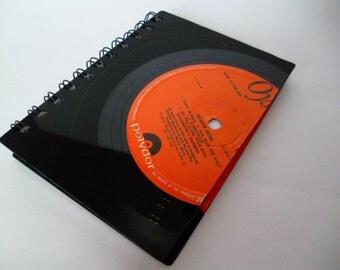 Notebook RAINBOW Record Vintage Vinyl Handmade Notepad 1970s Music Jotter