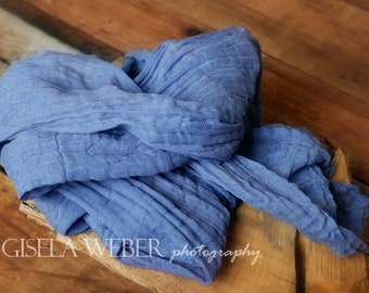 Newborn Cheesecloth, Baby Wrap, Blue Cheesecloth, Newborn WRAP, Baby Cheesecloth Wrap, Blue Cheesecloth Newborn Wrap, Boy Photo Prop