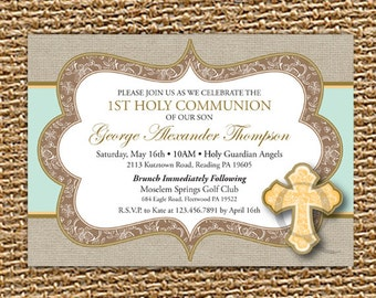 First Holy Communion Invitation, Holy Communion, Printable Invitation, Christening Invite, Baptism Invitation, Communion Invite