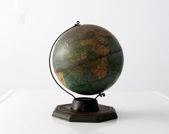 1930s J.Chein world globe, 8 inch tin globe