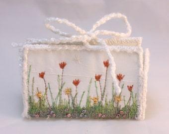 Gift Card Holder Birthday Gift card box Spring garden floral wedding favor box tulips flower keepsake cream trinket box
