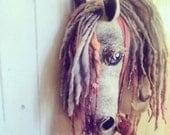 Custom hand felted hobby horse
