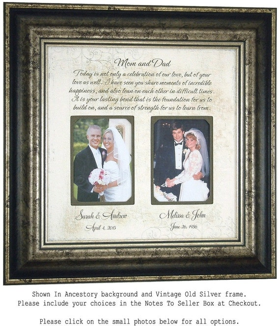 Wedding Gifts For Parents And Grandparents : Personalized Wedding Gift for Parents Bride Groom Grandparents Mom Dad ...