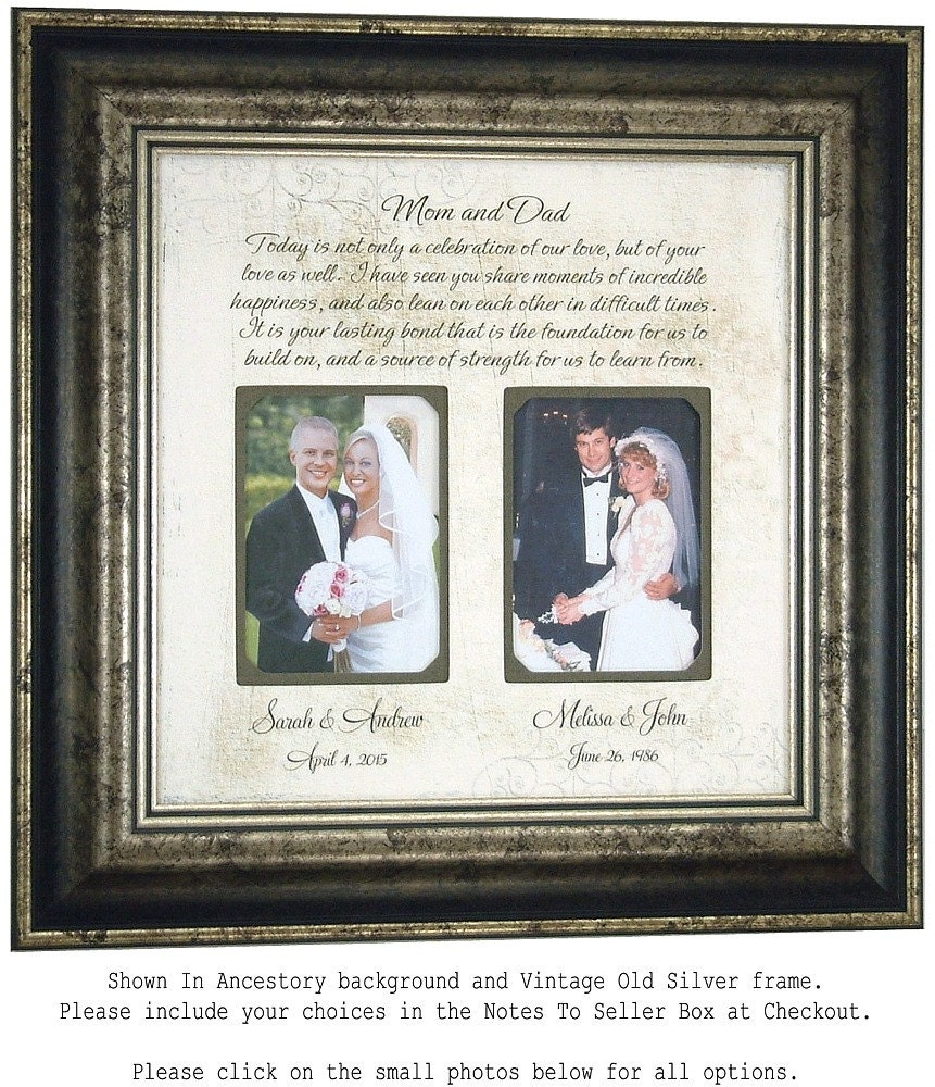 Photo Frame Personalized Wedding Gift for by PhotoFrameOriginals
