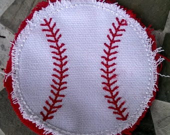 3 inch ** Game Patch  ** Glue on ** Sew on ** Raggy Applique ** Raggy patch hat ** Softball Hat