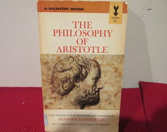 Vintage Paperback Book The Philosophy of Aristotle Commentary by Renford Bambrough
