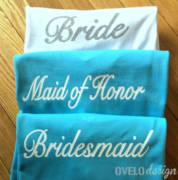 Build a Bridal Party Choose from Tank Top or T-shirt Customize your Bachelorette Party, Rehearsal, or Get ready day of