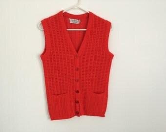 1950s mad men knit PREPPY sweater vest