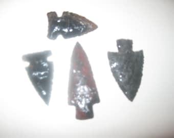 hunting arrowheads, obsidian