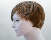 Add a Veil, Bandeau Birdcage Veil, Wedding Veil, Bridal Veil, Blusher Veil, Birdcage Veil, Wedding Hair Accessories, Bridal Hair Accessories