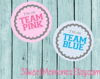 Gender Reveal Party Labels- Printed and Shipped to You!