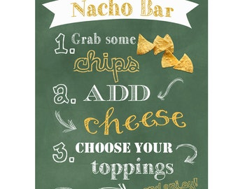 Nacho Bar Sign | Digital
