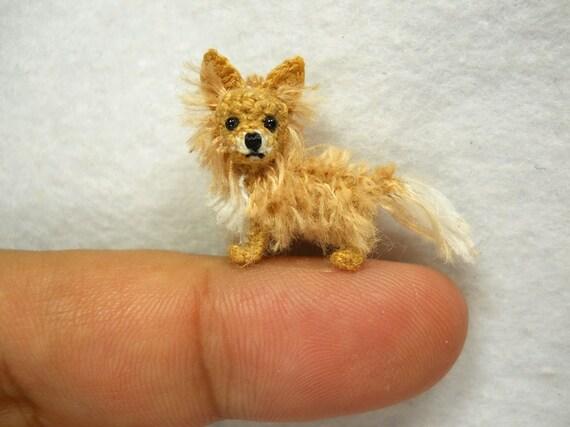 Amigurumi Long Hair : Long Hair Chihuahua Dog Amigurumi Crochet Tiny Dog Stuff ...