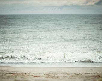 Aqua Beach Decor, Beach Print or Canvas Wrap, Nautical Decor, Fine Art Photography, Ocean Art, Blue, Teal, Aqua, Beige,Seascape, Landscape.