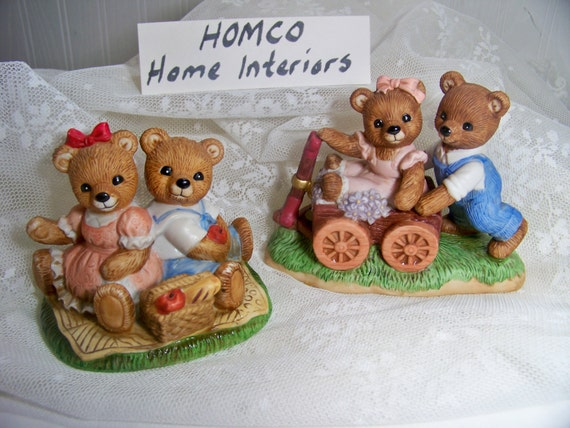 home interior bears home interiors bears playtime bears and picnic bears homco 12179