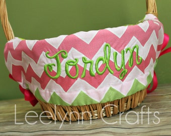 how to make a personalized easter basket liner
