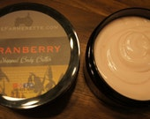 8 oz JAR of Cranberry Whipped Body Butter