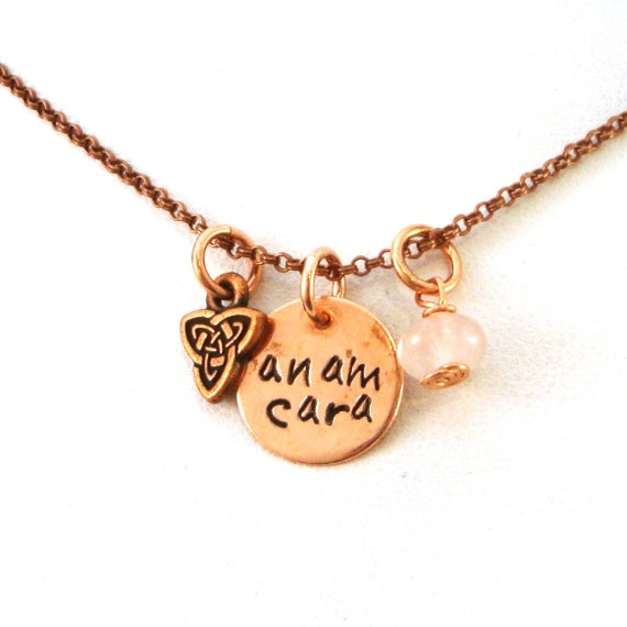 anam cara necklace in copper anam cara charm necklace