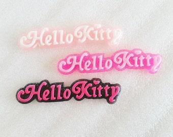 3pcs - Glitter Kitty Signature Decoden Cabochon (68x15mm) WRD007