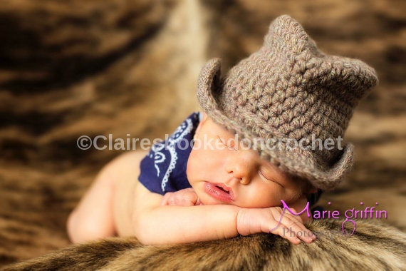 Baby Cowboy Hat, brown Fedora hat, fabulous newborn photography prop, cute baby gift