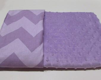 Lavender Minky Stroller or Carseat Blanket
