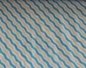 PLUSH Blue Stripe Wavy Minky Fabric by the Yard