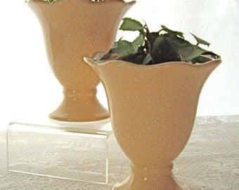 Pfaltzgraff Vintage Vase compote Ice Cream Dish Mid Century Mojo Mod Peach 1970