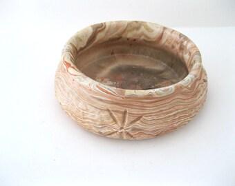 Comanche Pottery Planter, Multi-colored Swirl Pattern, Signed Ron Allen, Southwestern Made in USA Texas   - FL